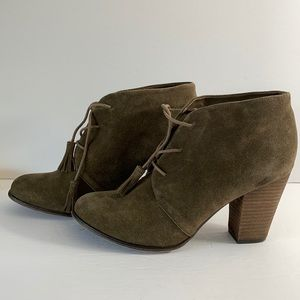 Bjorndal 'Harlow' Suede Ankle Boot Fringe Size 11